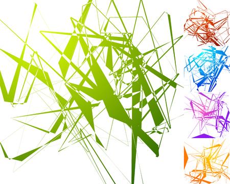 anomalous: Colorful edgy pattern set