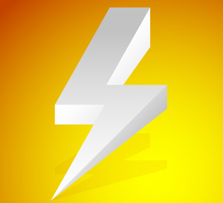 Lighting bolt, sparkle shape. Lighting bolt, electricity icon.