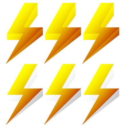Lighting bolt, sparkle shape. Lighting bolt, electricity icon.