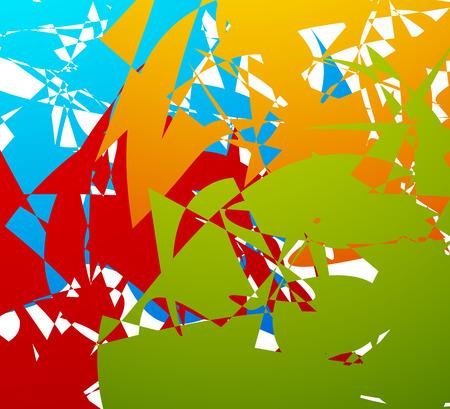anomalous: Random patches abstract illustration Illustration