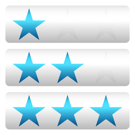 star rating: Star rating w 3 stars - Star rating panels