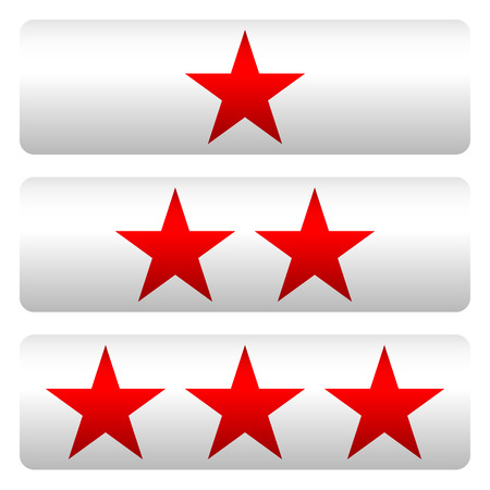 Star rating w 3 stars - Star rating panels