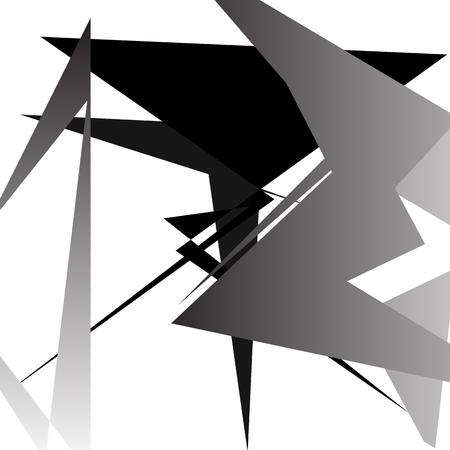 Abstract minimal art - Random edgy overlapping shapes
