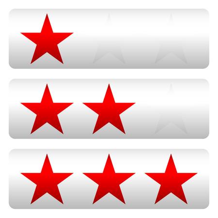 Star rating w 3 stars - Star rating panels