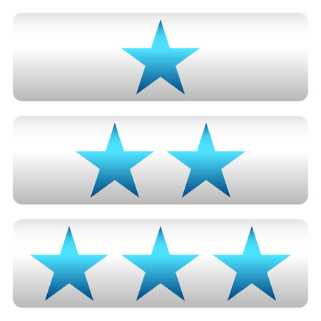 bad service: Star rating w 3 stars - Star rating panels