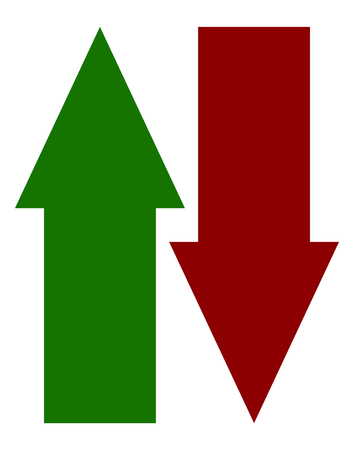 Green red up down arrow icon(s). Vertical arrows in opposite direction
