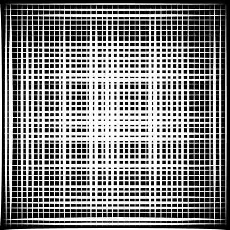 reticular: Asymmetric grid mesh pattern. irregular monochrome abstract texture