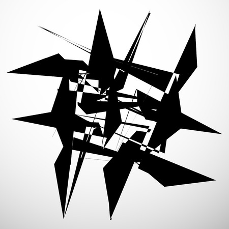 Abstract geometric element isolated. Random chaotic shape