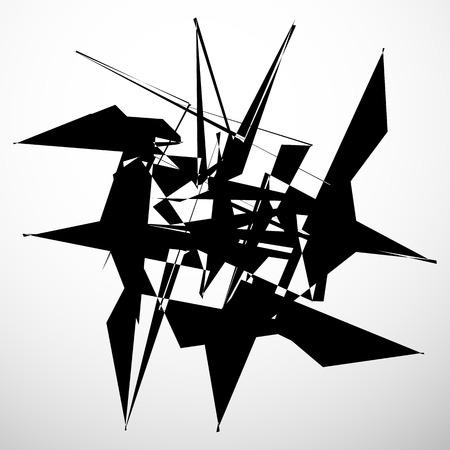 random: Abstract geometric element isolated. Random chaotic shape
