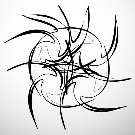 Abstrait élément géométrique isolé. forme chaotique aléatoire Vecteurs