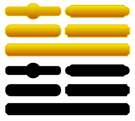 バナー、プラークの背景、角の効果を使用して図形