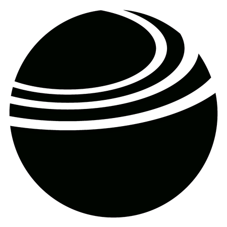 elipse: Geometric circle with dynamic ellipse lines. Circle icon