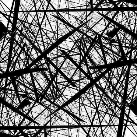 Chaotic random edgy pattern. Geometric abstract illustration.