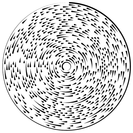 segmented: Random concentric segmented circles. Circular geometric element. Illustration