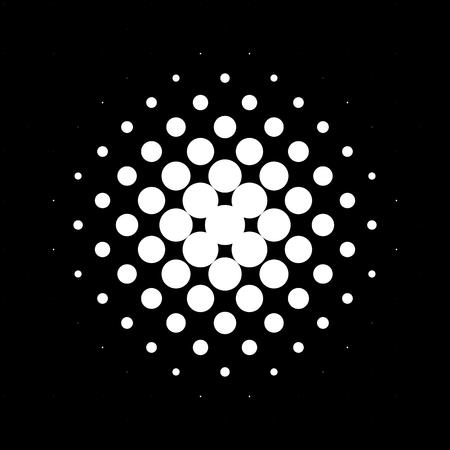 Circle halftone pattern  texture. Monochrome halftone dots. Illustration