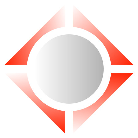 Bright geometric  or icon with square and circle Illustration