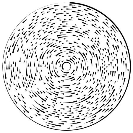 segmented: Random concentric segmented circles. Circular geometric element. Illustration