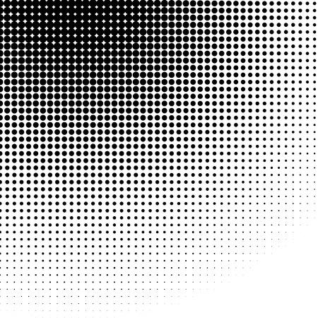 Koło półtonów wzorzec / tekstur. Monochrome kropki półtonów.