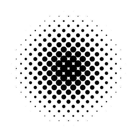 Circle halftone pattern / texture. Monochrome halftone dots.