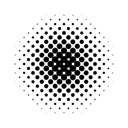 Circle halftone pattern  texture. Monochrome halftone dots. Illustration