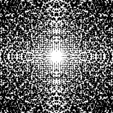 shards: Chaotic abstract monochrome texture with random triangles