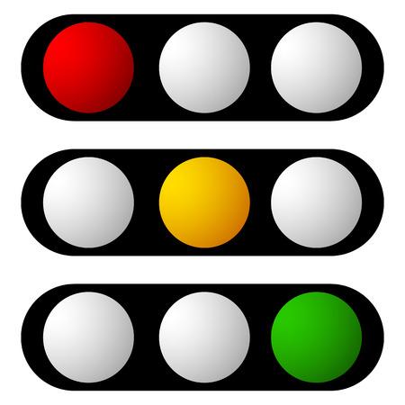 Conjunto de semáforo, semáforo, iconos de semáforo