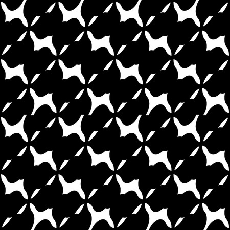 monocrome: Abstract black and white geometric pattern. Seamlessly repeatable. Illustration