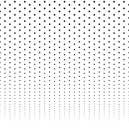 horizontally: Horizontally repeatable halftone background  pattern fading from top. Illustration