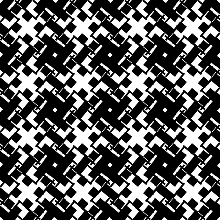reticular: Abstract black and white geometric pattern. Seamlessly repeatable. Illustration