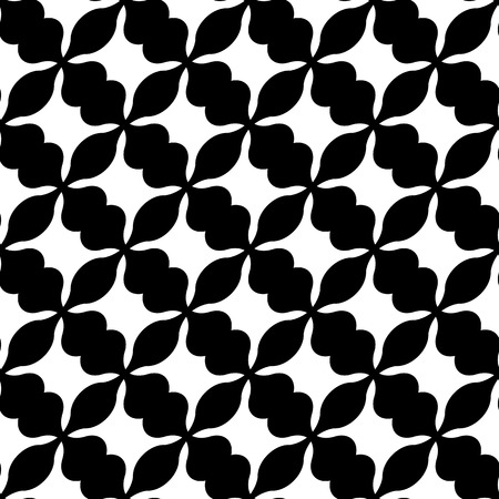 grillage: Abstract black and white geometric pattern. Seamlessly repeatable. Illustration