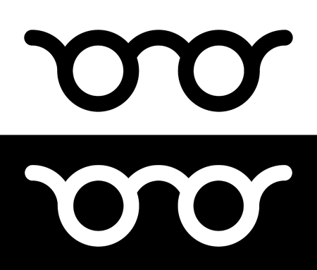 optician: Colorful glasses vision, optician, optometry concept icon Illustration