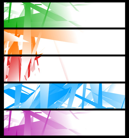 edgy: Banner templates with abstract geometric art - Set of 4 banner graphic