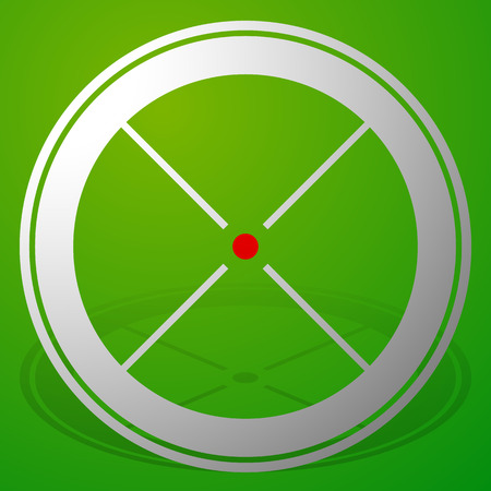 Target mark, crosshair, reticle icon with red dot Illustration