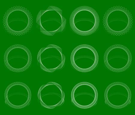 revolving: Abstract vortex, spiral element(s). Geometric circular illustration Illustration