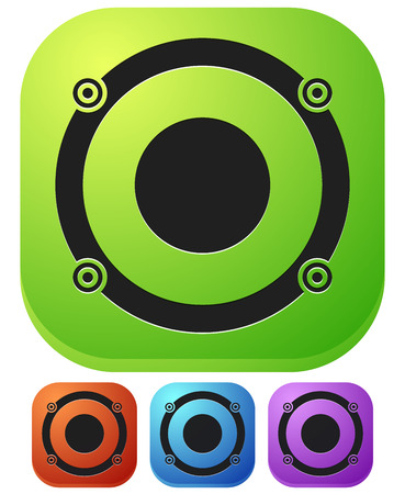 Speaker icon for audio, music related themes Illustration