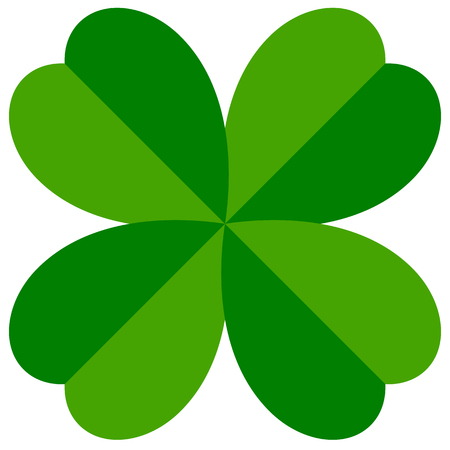 Abstract 4-leafed clover graphic (Luck, fortune concept)