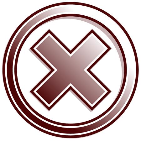 rejection: Cross, X symbol, icon(Failure, error, rejection, forbidden, deletion concepts)