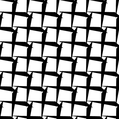 intersecting: Abstract black and white geometric pattern. Seamlessly repeatable. Illustration