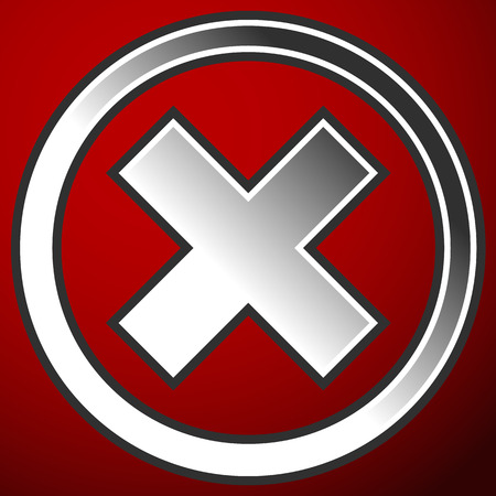 rejection: Cross, X symbol, icon(Failure, error, rejection, forbidden, deletion concepts)