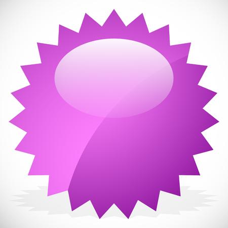 highlight: Price flash, starburst, sunburst badge in vivid color with highlight Illustration