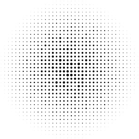 prepress: Halftone circles, halftone dots pattern. Monochrome half-tone