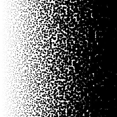 Random halftone, pointillism pattern - Irregular dots abstract monochrome halftone Vector Illustration