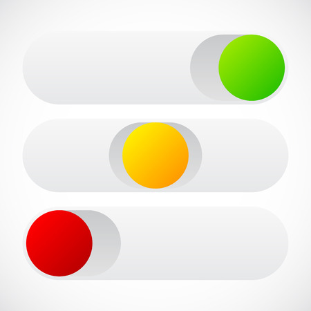 yellow beware: Slider button template in on off standby states
