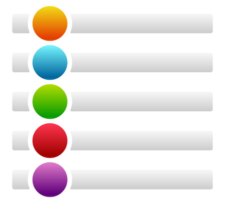 baner: Banners  buttons with circles for messages with symbols  icons