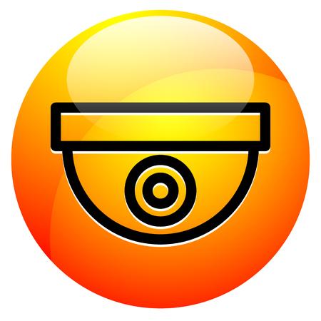 Pictogram met security camera / bewakingscamera symbool