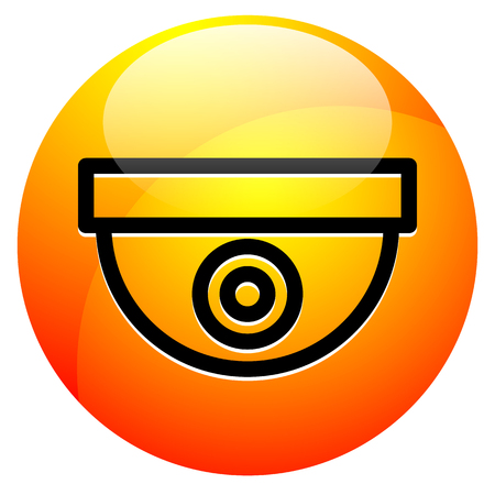 Icon with security camera  surveillance camera symbol