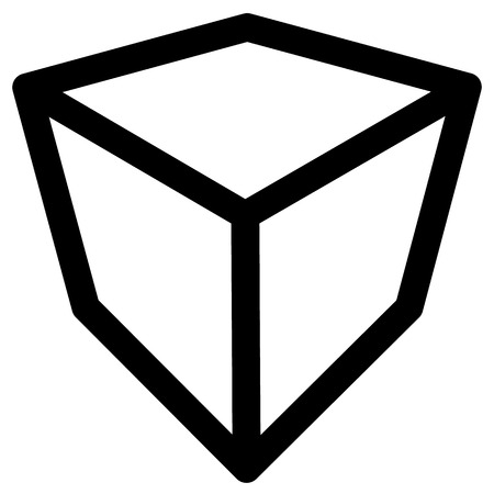 miscellaneous goods: Crate  box or cube icon, symbol. Geometry, shipping, delivery, packaging, logistics concept icon.