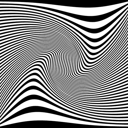 distorted: Distorted abstract monochrome pattern of asymmetric  irregular lines