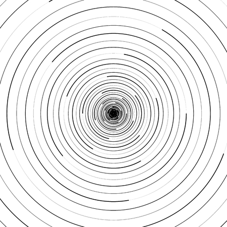 Ripple pattern with concentric circles. Circular geometric background.