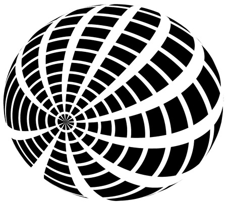 camber: Sphere with grid of squares  Textured 3d sphere icon(s) Illustration